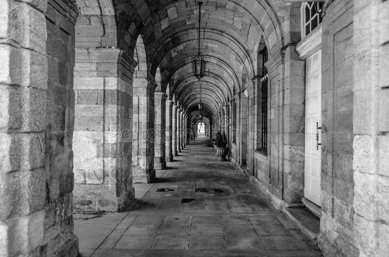 Architecture in Santiago de Compostela, Spain royalty free stock image
