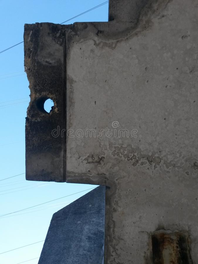 Concrete Building construction low angular view royalty free stock photography