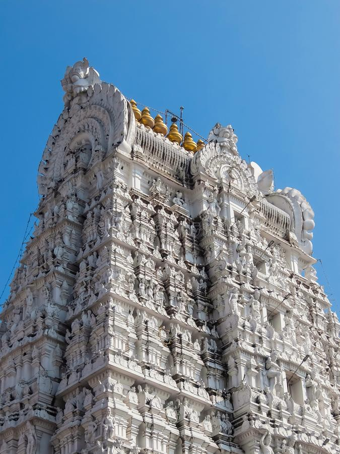 Architecture of Sri Govinda Raja Swamy Temple, Tirupati, India. Tirupati, India - Circa January, 2018. Architecture of Sri Govinda Raja Swamy Temple, Tirupati royalty free stock photos