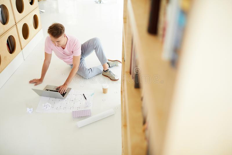 Architecture student in library royalty free stock photography