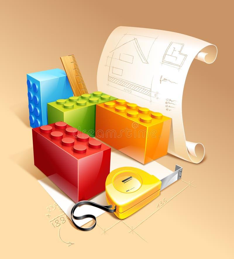 Download Architecture Symbols stock illustration. Image of construction - 12596953