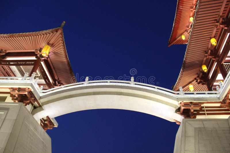 Architecture of Tang Paradise,Xian stock photography