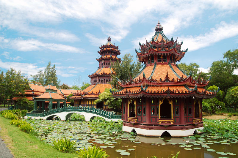 Architecture of thailand royalty free stock photography
