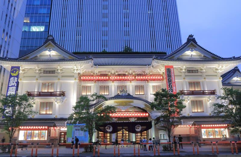 Architecture Tokyo Japon de théâtre de Kabukiza photo stock