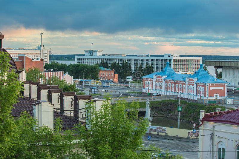 Architecture of Tomsk city. Russian Federation. Aerial view. Architecture of Tomsk city. Russian Federation stock photos