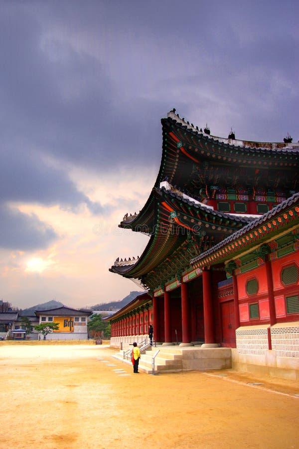 Architecture traditionnelle coréenne image stock