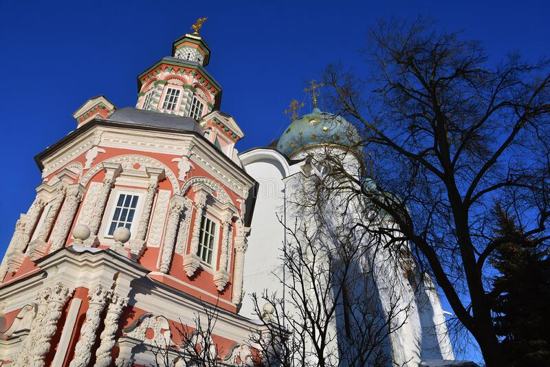 Architecture of Trinity Sergius Lavra, Sergiev Posad, Moscow region, Russia. royalty free stock photo
