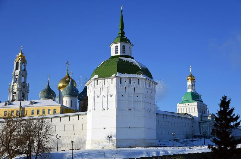 Architecture of Trinity Sergius Lavra, Sergiev Posad, Moscow region, Russia. royalty free stock images
