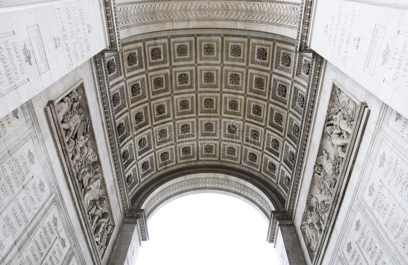 Architecture of the Triumphal arch royalty free stock photo