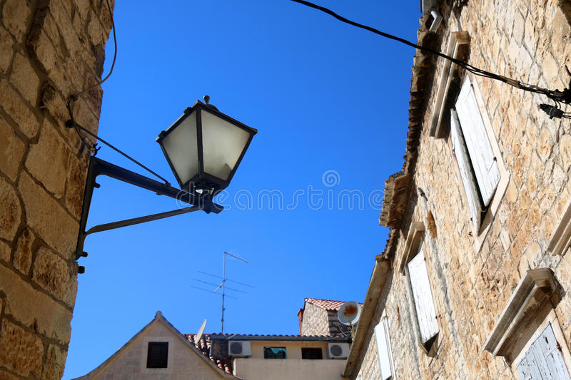 Architecture in Trogir stock images