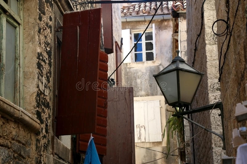 Architecture in Trogir stock image