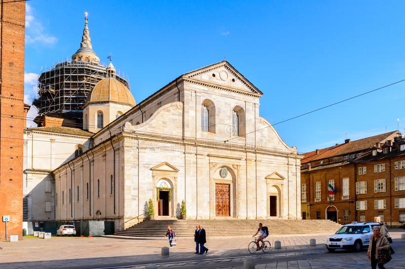 Architecture of Turin, Italy royalty free stock photos