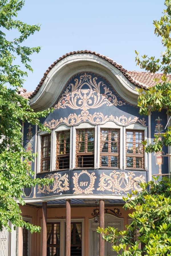 Architecture typique dans la vieille ville, Plovdiv, Bulgarie images libres de droits