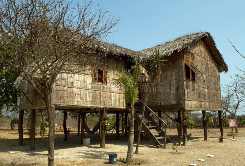 Architecture typique de pavillon dans l'ecuadorian photos stock