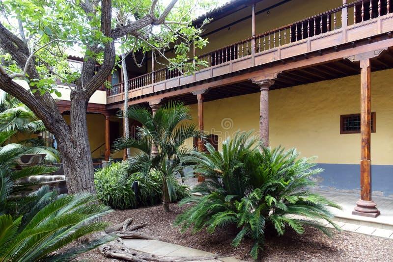 Architecture typique de Ténérife, vieille ville, La Laguna, Îles Canaries images libres de droits