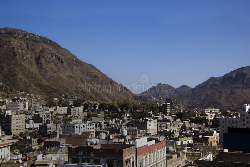 Architecture typique du Yémen dans Ibb, Yémen images libres de droits