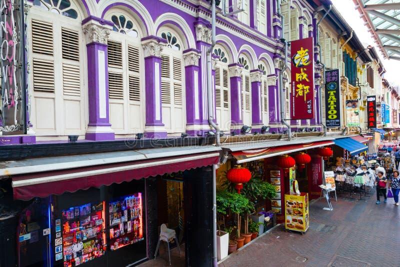 Architecture unique du ` s de Singapour Chinatown photographie stock
