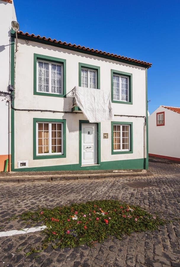 Architecture of Vila do Porto, Santa Maria Island. Vila do Porto, Santa Maria Island, Azores, Portugal royalty free stock photos