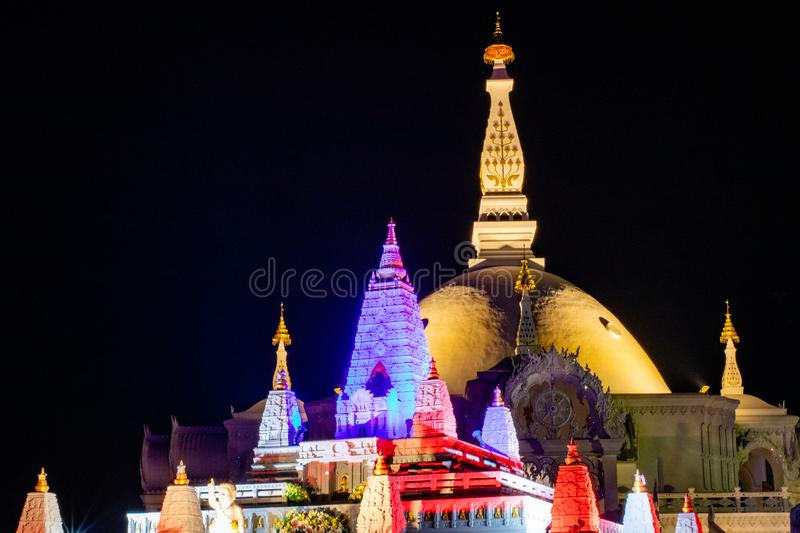 Architecture of Wat Bunglatthiwan in Thailand stock images