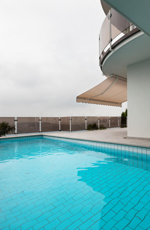 Download Architecture whit pool stock image. Image of patio, construction - 34537155
