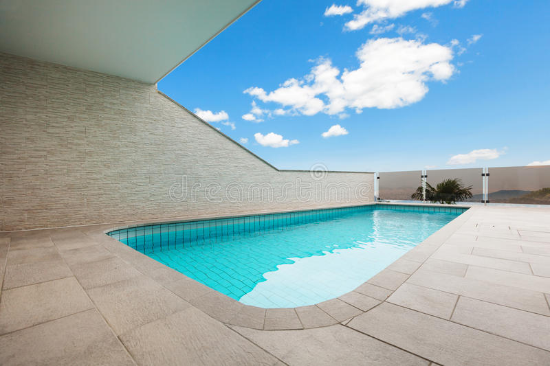 Download Architecture whit pool stock photo. Image of blue, modern - 34537524