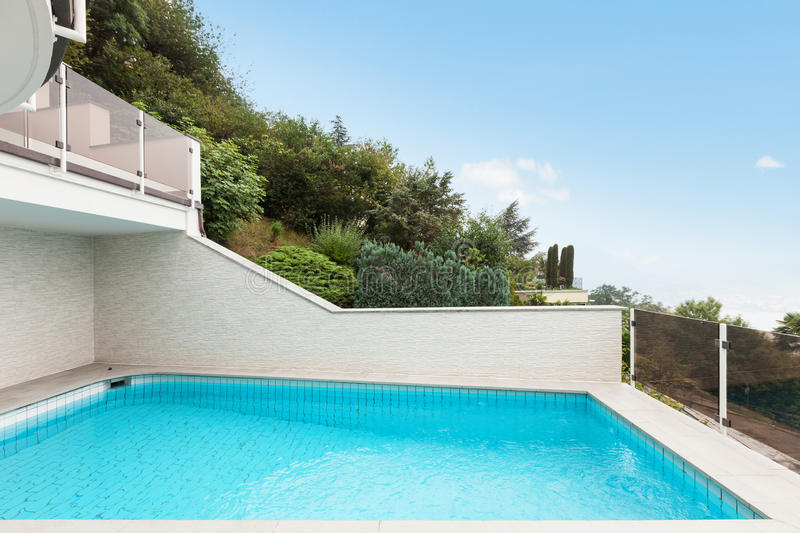 Download Architecture whit pool stock photo. Image of holiday - 34537676