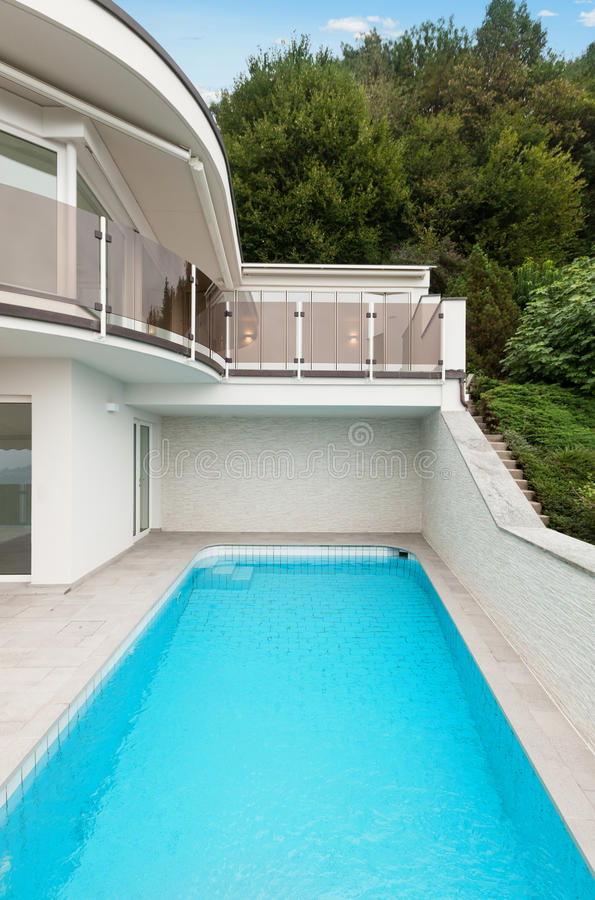 Download Architecture whit pool stock image. Image of pool, outside - 34538627