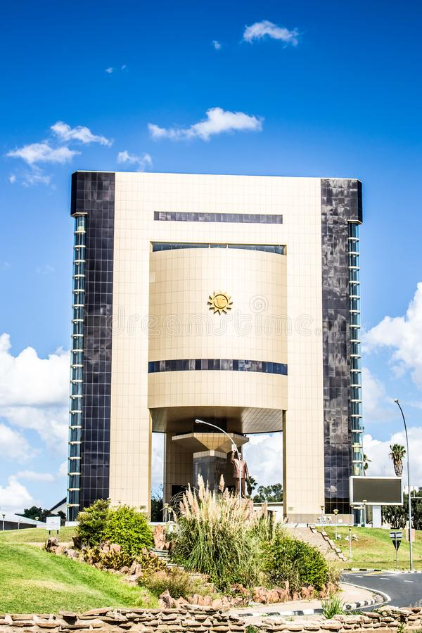 architecture in Windhoek, Namibia and Cape town South Africa royalty free stock images