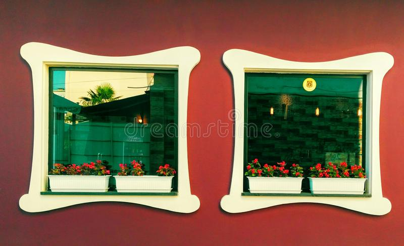 Architecture windows stock photography