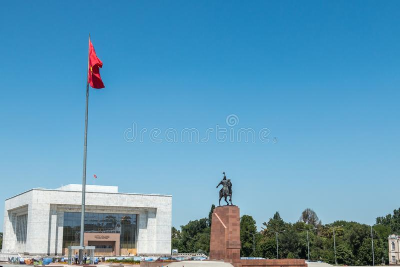 Architectuur in Ala te vierkante, centrale Bishkek, Kyrgyzstan stock foto's