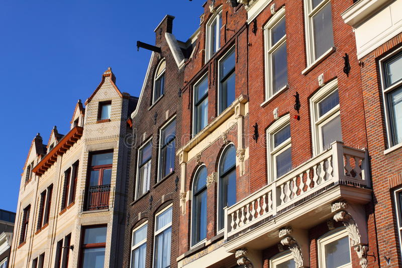 Architectuur in Amsterdam royalty-vrije stock afbeelding
