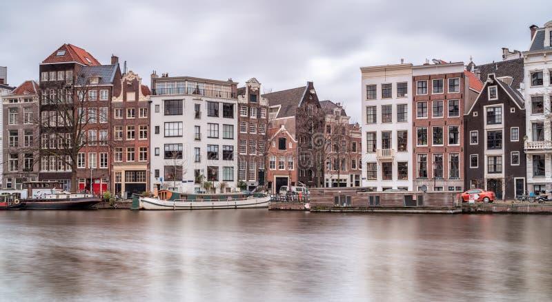 Architectuur in Amsterdam stock foto