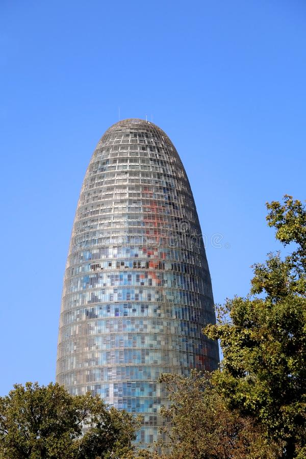 Architectuur in Barcelona, Spanje stock afbeelding