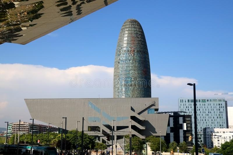 Architectuur in Barcelona, Spanje stock afbeeldingen