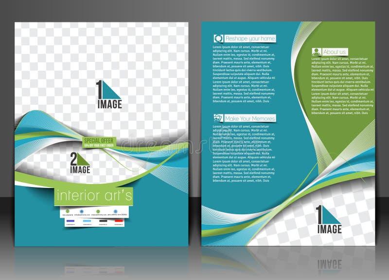 Architectuur & Binnenhuisarchitectvlieger stock illustratie