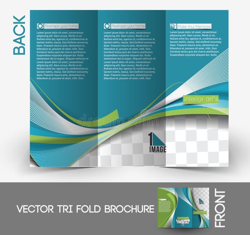 Architectuur & Binnenlandse Ontwerper Brochure stock illustratie