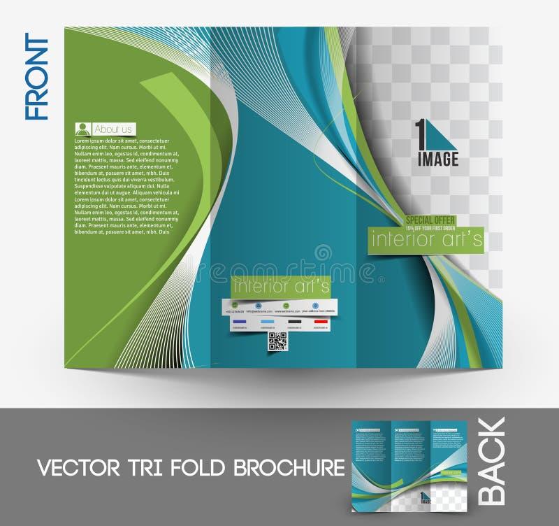 Architectuur & Binnenlandse Ontwerper Brochure royalty-vrije illustratie