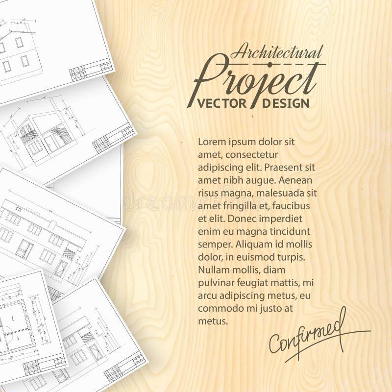 Architectuur bluerints vector illustratie