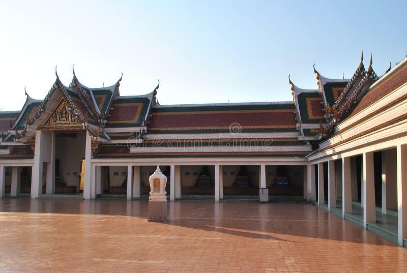 Architectuur Boeddhistische de Bouwwat phar sri bangkok tempel Thailand stock foto