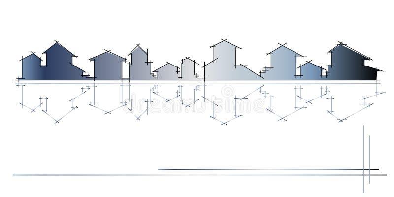 Architectuur - bouwbedrijf stock illustratie