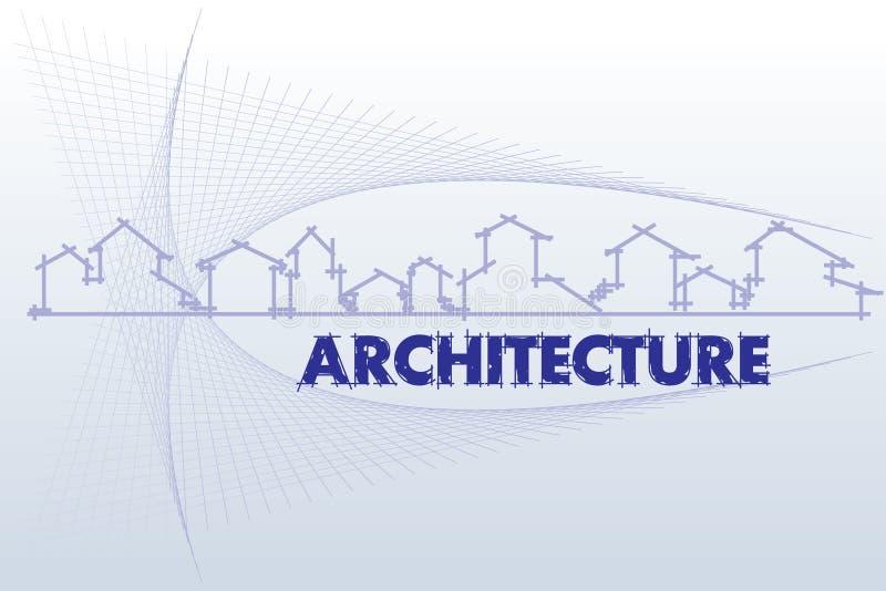 Architectuur - bouwbedrijf vector illustratie