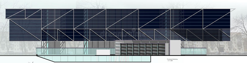 architectuur 3d model stock afbeeldingen