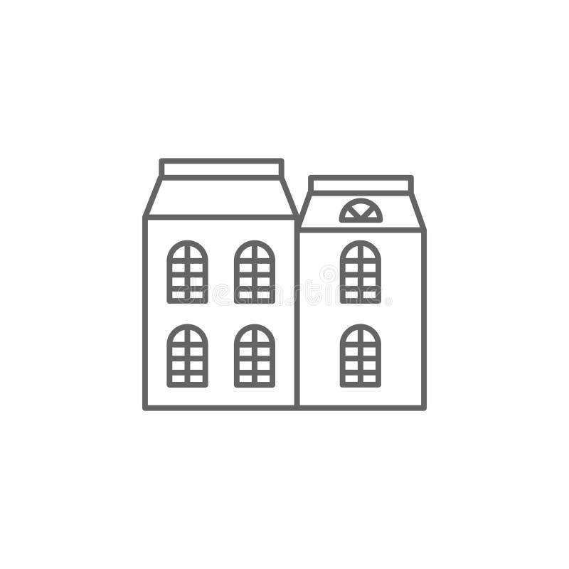 Architectuur, de bouwpictogram Element van het pictogram van Parijs Dun lijnpictogram voor websiteontwerp en ontwikkeling, app on stock illustratie