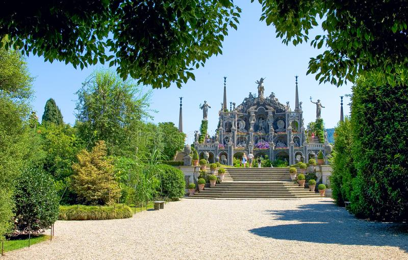 Architectuur en landschappen van Magiore-Meer royalty-vrije stock afbeeldingen