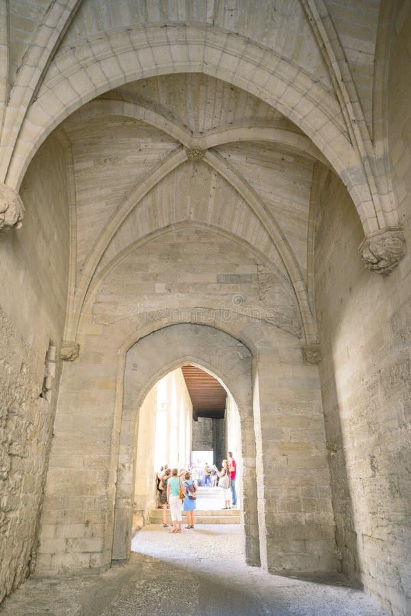 Architectuur en monumenten van Avignon stock foto