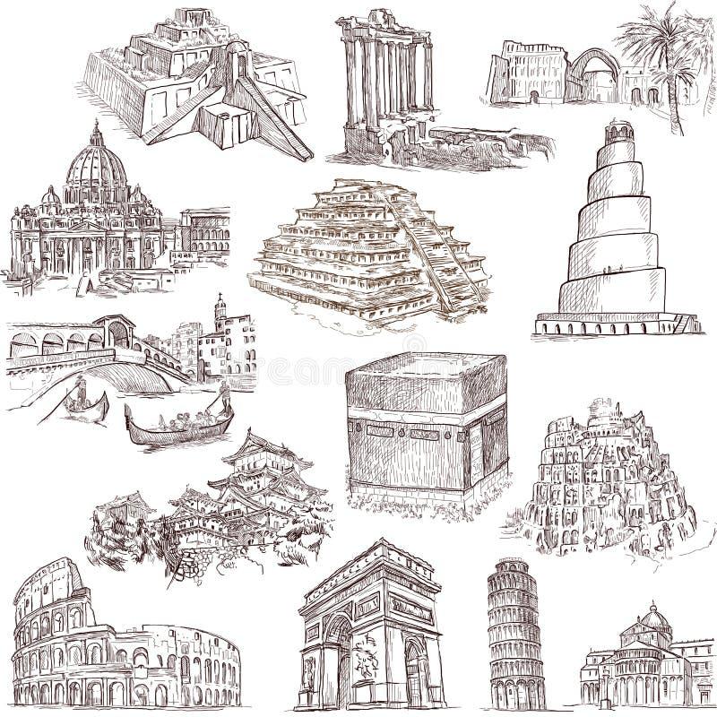 Architectuur en plaatsen 2 stock illustratie