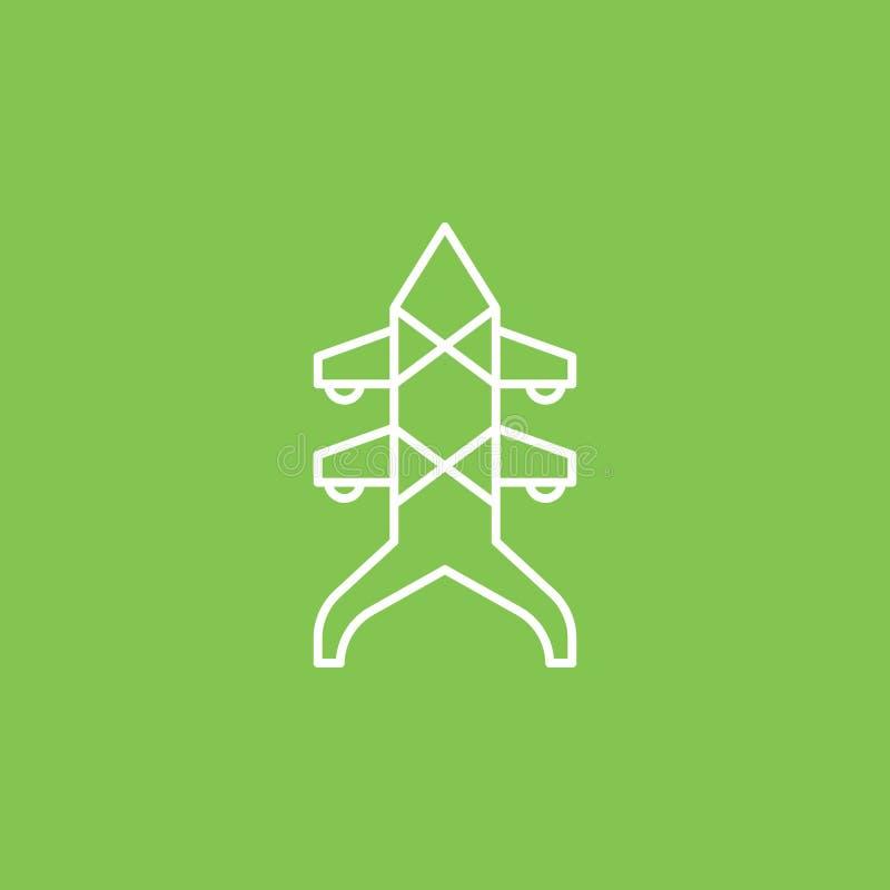 Architectuur en stadspictogram - Vector Eenvoudige elementenillustratie van UI-concept Architectuur en stadspictogram - Vector In royalty-vrije illustratie