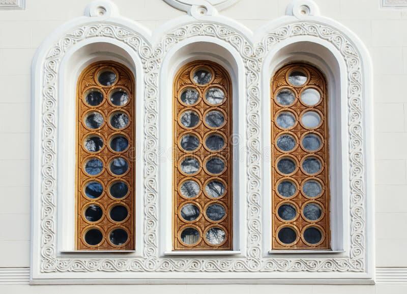 Architectuur en vensters van de bouw van de renaissancestijl royalty-vrije stock fotografie