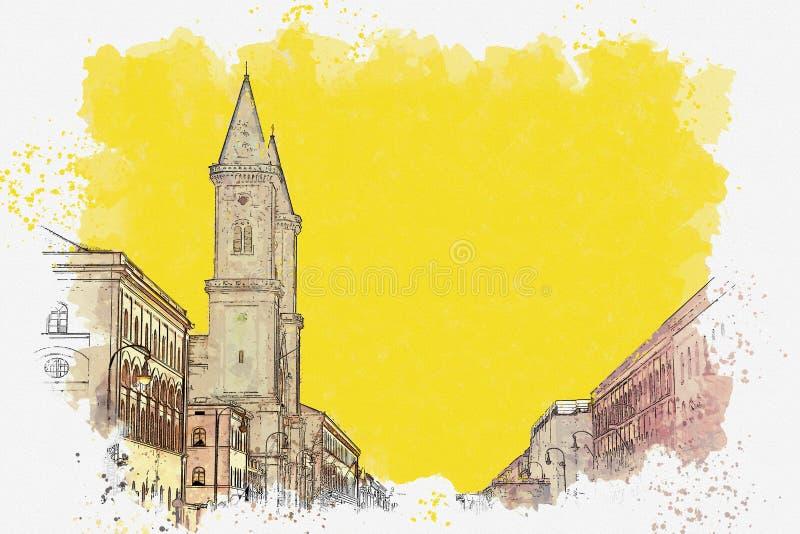 Architectuur of gebouwen in München vector illustratie