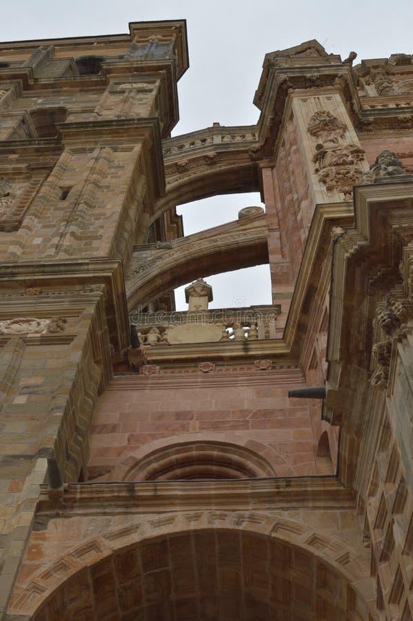 Architectuur, Geschiedenis, Camino DE Santiago, Reis, Straatfotografie stock afbeelding